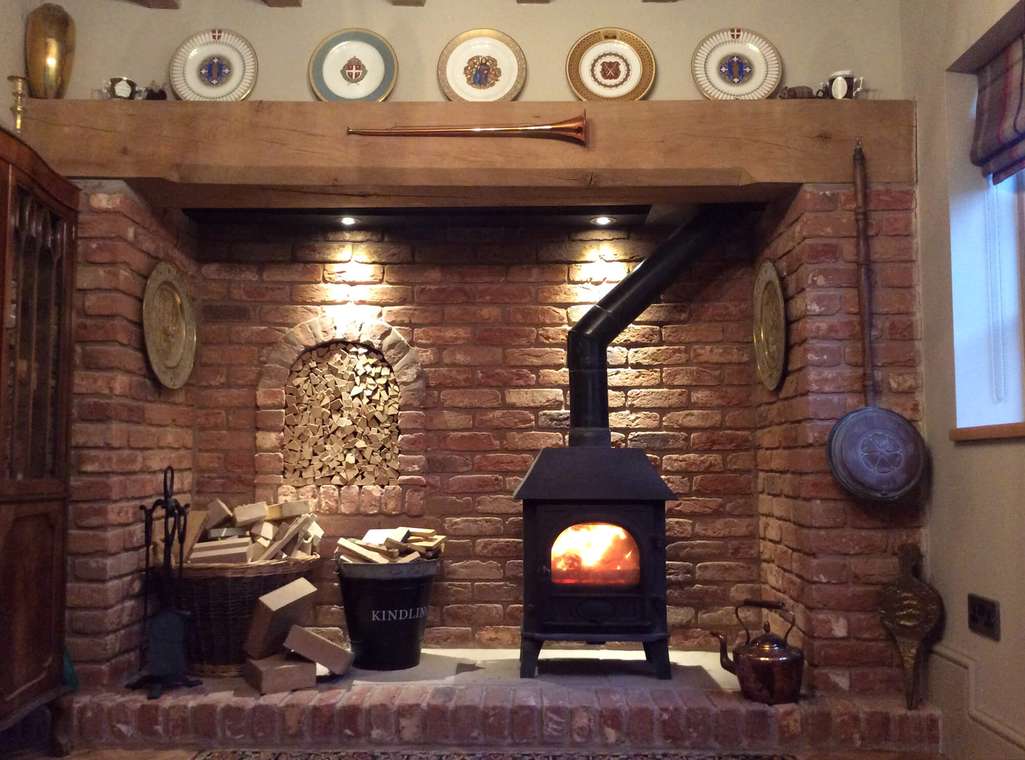 JLS Design & Build Joinery Manufacturer and Building Contractor in Coventry and Warwickshire Brick Fireplace