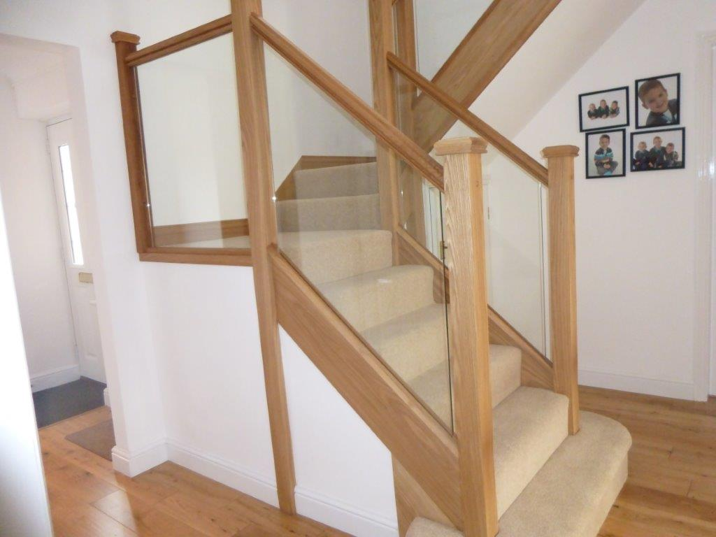 Oak & Glass Staircase