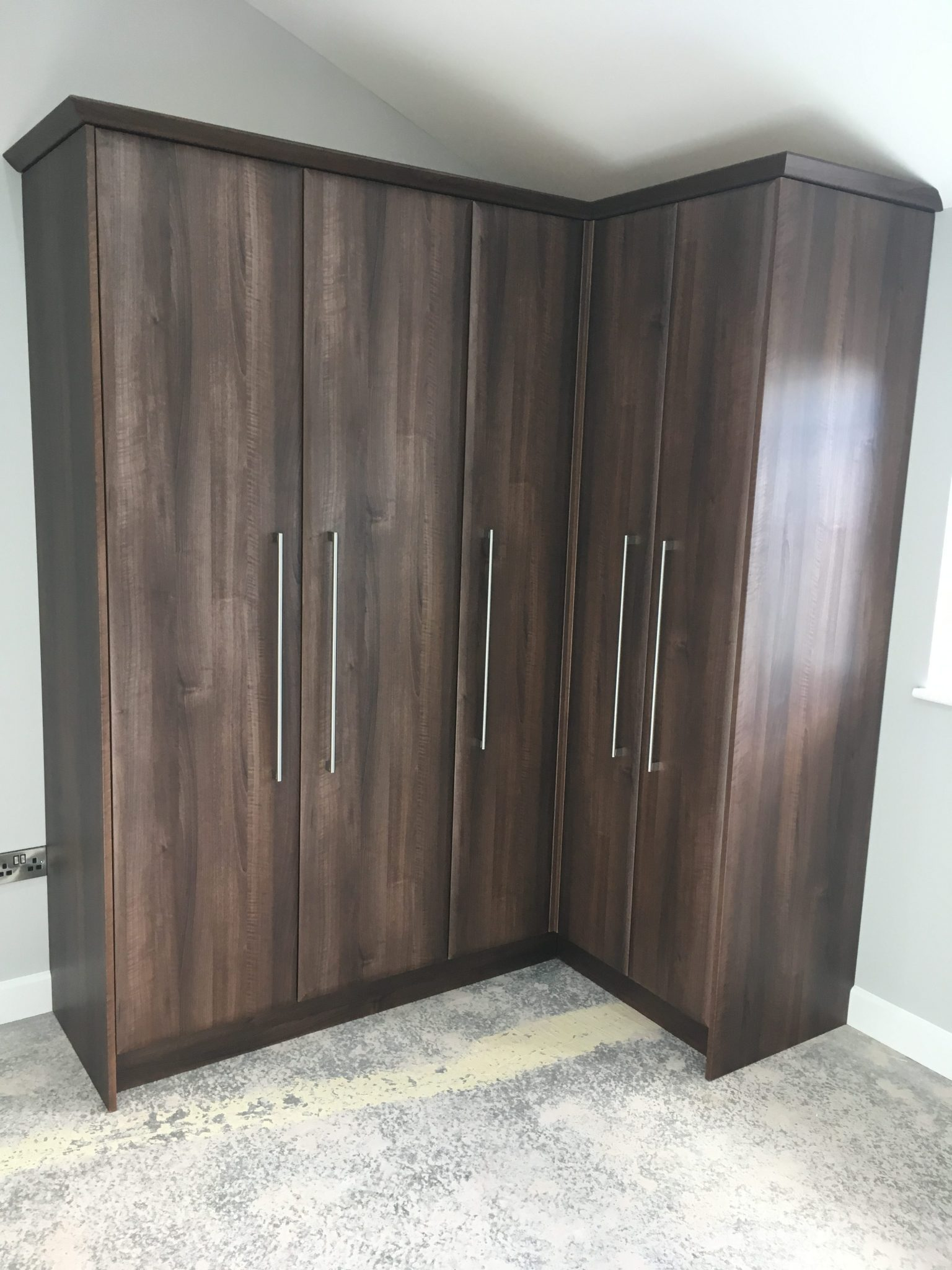 Walnut Fitted Wardrobes